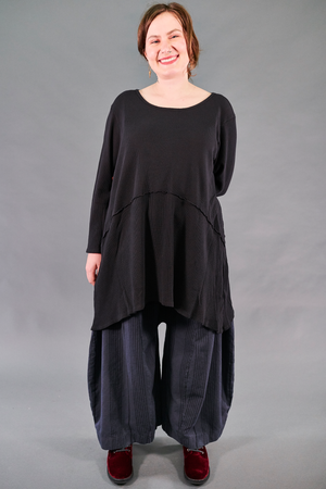 7218-Thermal Tunic-Black-Unprinted