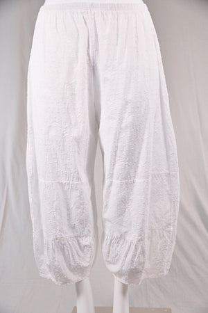 3224-Swiss Dot Meadow Pant-White-U