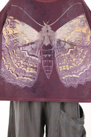 2266C Square Pullover Plum Rose Printed-Charaxes