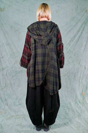 5104-Plaid Flannel Jacket-Night Forest-U