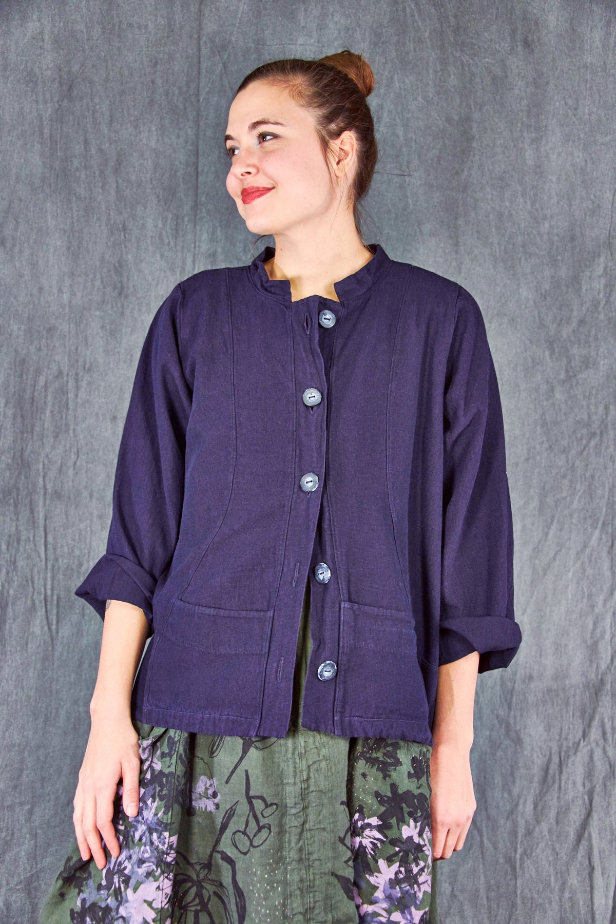 5277 Denim Jacket-Blue Plum-U