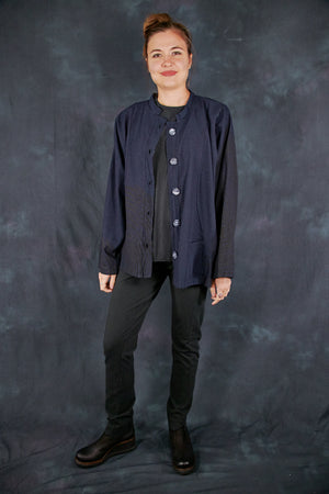 5277 Denim Jacket-Black Indigo-Fingerprint