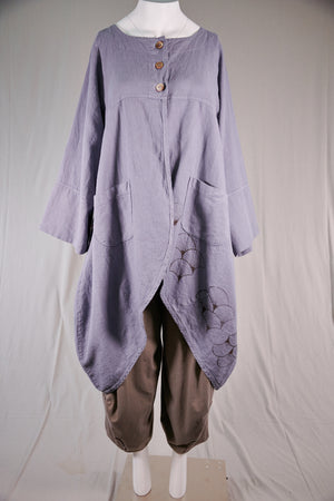 5288 Heavy Linen/Viscose Jacket-Lake-P