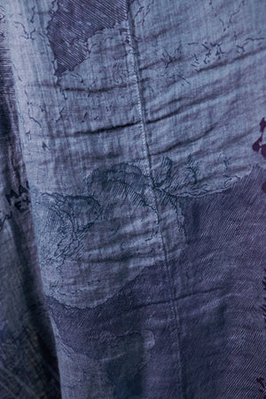 5292 Cyanotype Linen Duster-Century Blue Magic Follows