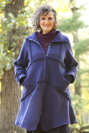 Fleece Sherpa Coat UnPatched Nightshade-Blue Fish Clothing