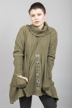 Thermal Pocket Tunic Moss Patched-Blue Fish Clothing