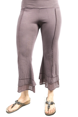 Summer Tiered Crop Pant Ferric UnPrinted CLEARANCE $48.