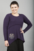 Playhouse Thermal Top Eggplant Patched-Blue Fish Clothing