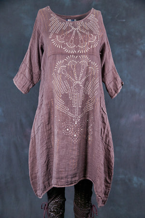 7114 Wave Dress Flint-Stitches