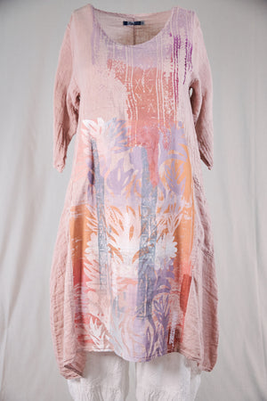7114 Wave Dress Natural Pink-P