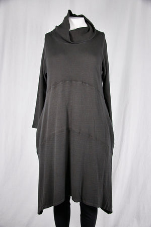 7220 Druid Cowl Dress-Soot-U