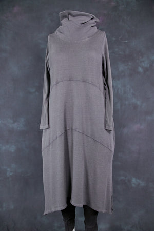 7220 Thermal Cowl Dress Sea Grey-U