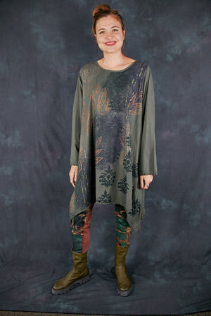 7228 Autumn A-Line Dress Army Green-P