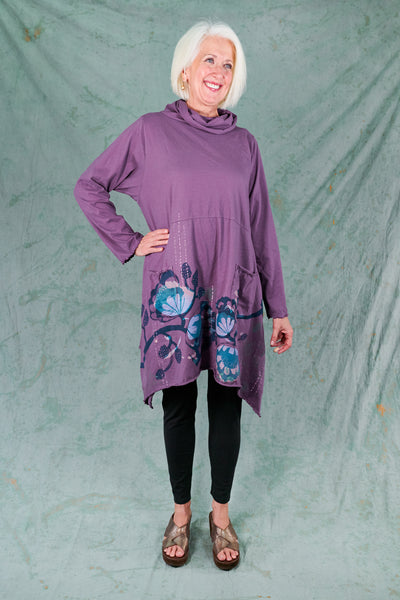 7229 Cowl Dress with Pockets-Violette-P
