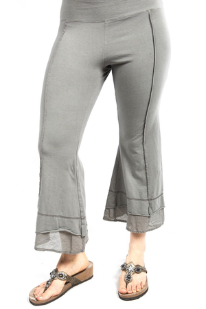 Summer Tiered Crop Pant Illite UnPrinted CLEARANCE $48
