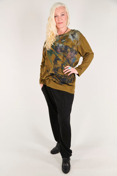 1157 Long Sleeve Studio Tee Antique Green-P