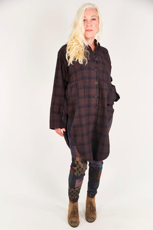 2289 Kinna Plaid Shirt/Jacket- Peat