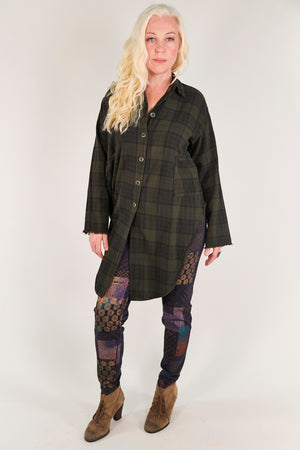 2289 Kinna Plaid Shirt/Jacket- Night Forest
