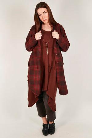 2289 Kinna Plaid Shirt/Jacket- Russet