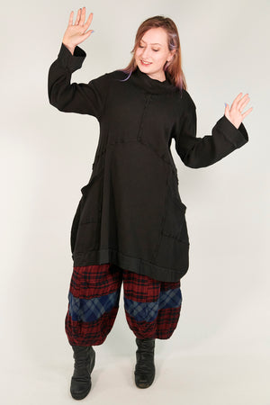2207 Thermal Travel All Roads Thermal Tunic Black-U