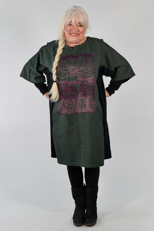 2250 Sketchbook Tunic/Sweatshirt Dress-Sequoia-P