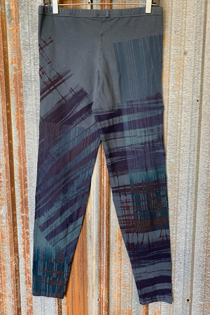 3136 Handprinted Legging Antique Ink-P