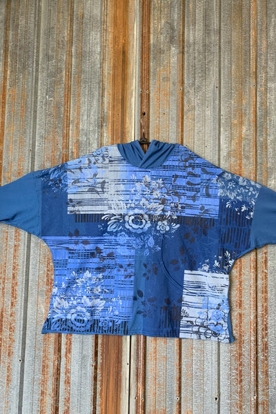 5298 Windmill Square Hoodie-Delft Blue-Multi Layered Edition
