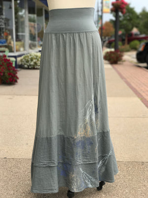 4165 Striped Tier Layer Skirt -P Moonwater