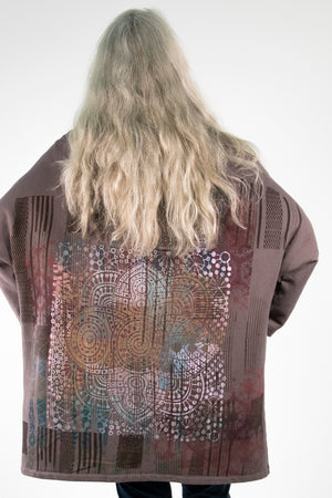 5255 HZ Square Zipper Hoodie Flint-Bohemian Rainbow