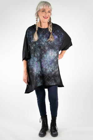 1255 Limited Edition Oversized Tunic Tee-Black-P