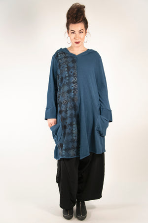 2233- Moonlit Hoodie Pullover-Imaginary Blue- Printed