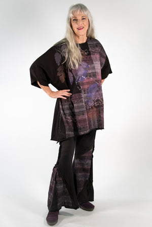 1255 Limited Edition Oversized Tunic Tee-Black Cherry-P