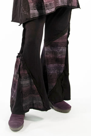 3295 Patchwork Pant-Black Cherry-Printed