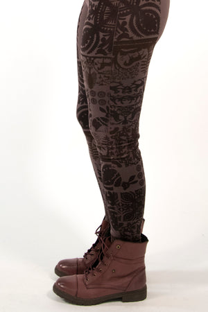 3136-Lightweight Legging incense-Printed