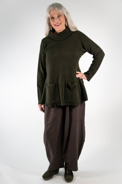 1246 Sherpa L/S Pocket Cowl Night Forest