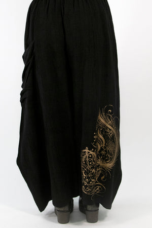 3159 Holiday Klee Pant Black printed
