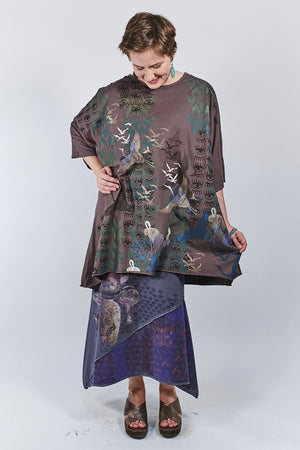1255 Oversized Tunic Tee- Incense-Longevity and Happiness