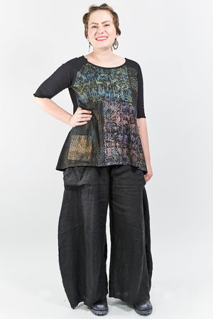 2139 Blessing Top Black-Printed