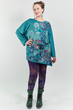 1157 Long Sleeve Studio Tee Teal-P