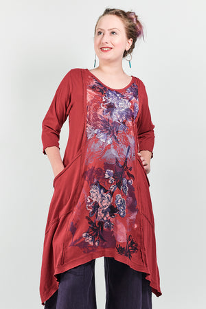2298 Vector Long Elegant Red -Printed