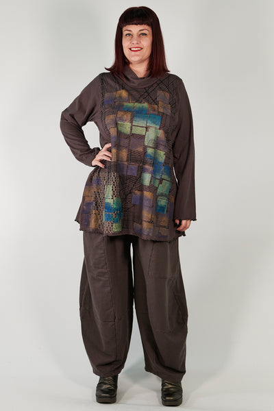 3292  Winter Four Square Pant with Pockets-Italian Umber