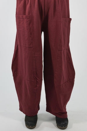3292  Winter Four Square Pant with Pockets- Sangria