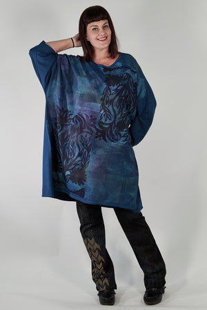 1255 Limited Edition Oversized Tunic Tee-Imaginary Blue-P