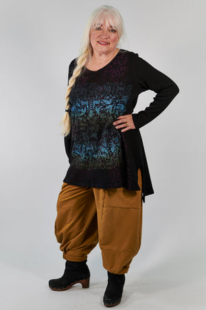 2293 Thermal Voyages Tunic Black-P