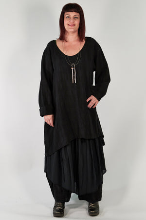 2238- Long Tunic Black- Unprinted