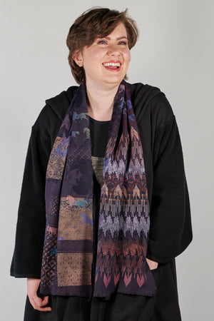 8001 Thermal Scarf Purple-P