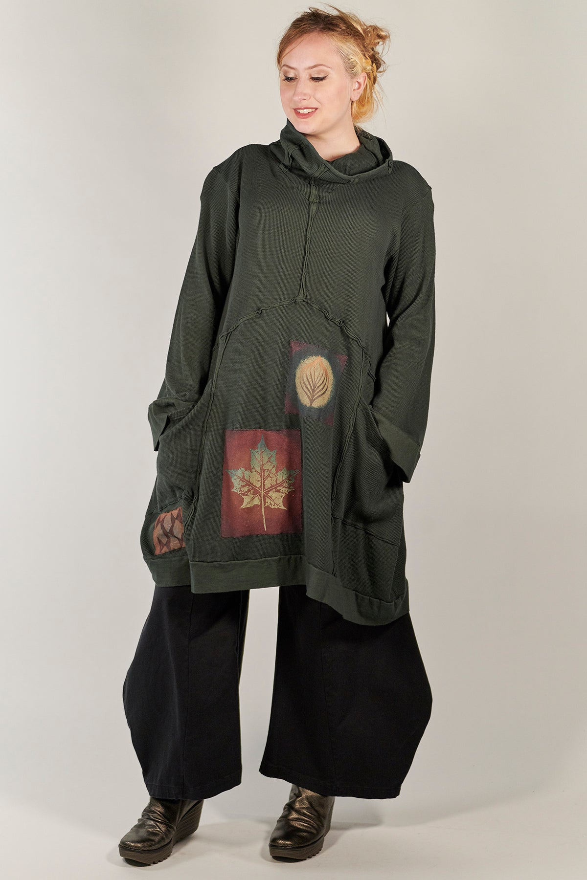 2207 Thermal Travel All Roads Tunic Marsh-P