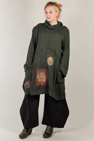 2207 Thermal Travel All Roads Tunic Marsh