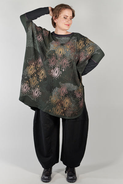 2251 Natural City Tunic-Marsh- Ikat Colorwinds