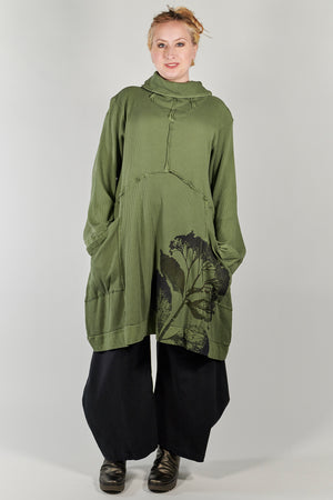 2207 Thermal Travel All Roads Tunic-Herbacious